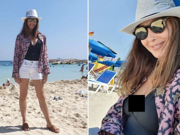 نانسي عجرم تظهر صور جديدة وهي تستمتع بوقتها على شاطئ البحر