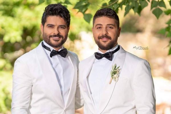 شقيق الفنان السوري ناصيف زيتون يدخل القفص الذهبي مع زوجته زينة منصور