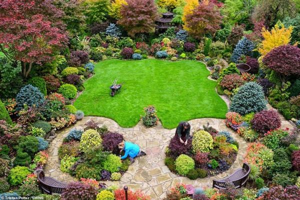 زوجان يقضيان 37 عاما في تزيين حديقتهما  3911030846
