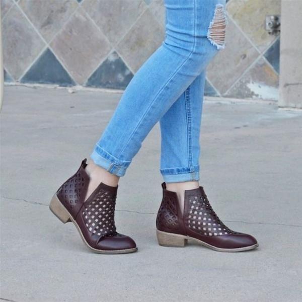 """ankle boots"" بلون جلد النمر والثعبان  3911033226"