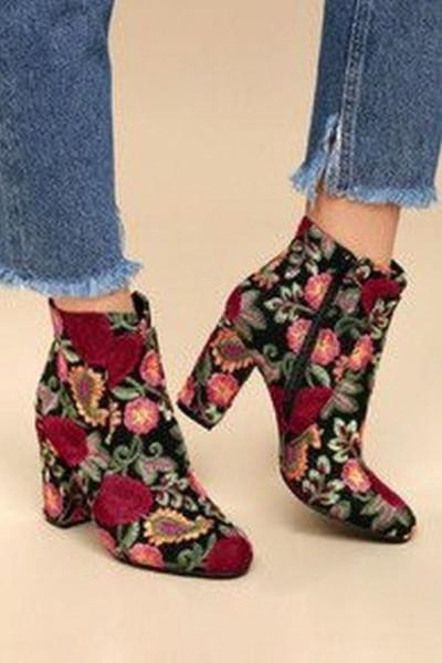 """ankle boots"" بلون جلد النمر والثعبان  3911033227"