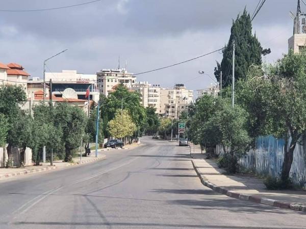 رام الله في وقفة العيد والحظر 3911086628
