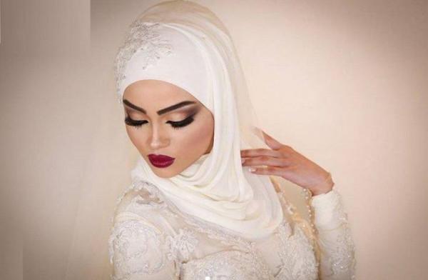 لفات طرح للعروس المحجبه 3911091854