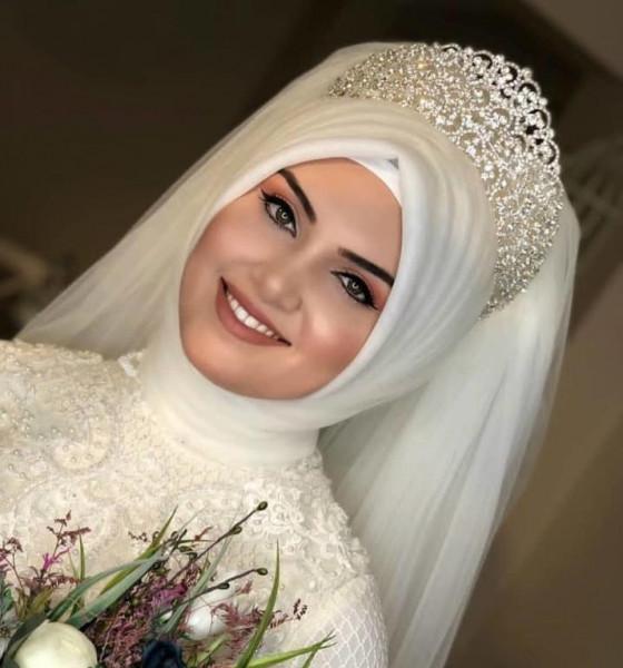 لفات طرح للعروس المحجبه 3911091856
