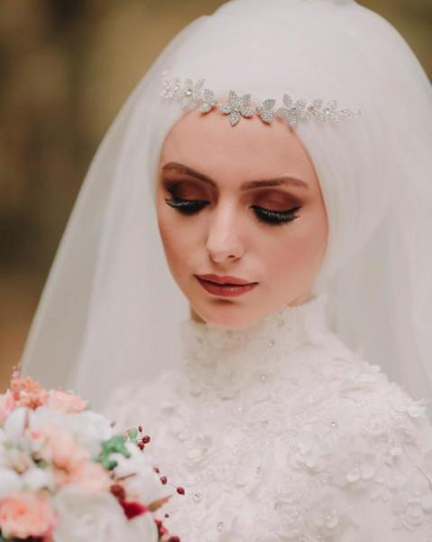 لفات طرح للعروس المحجبه 3911091859