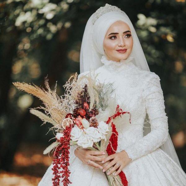 لفات طرح للعروس المحجبه 3911091861