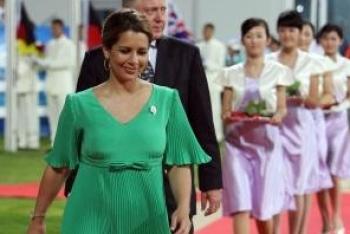الأميرة هيا بنت الحسين عقيلة حاكم إمارة دبي حامل