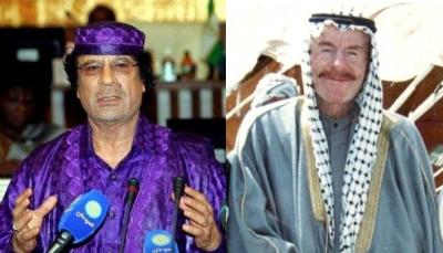 القذافي هاجم البعثيين في العراق ووصفهم بصنيعة الماسونية ودافع عن الشيعة