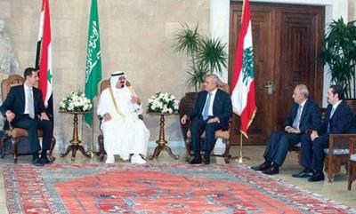 قمة بيروت التاريخية :وصول الملك عبد الله والرئيس الأسد على طائرة واحدة