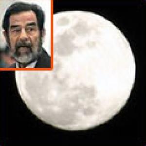 اهالي النقب شاهدوا صورة الرئيس صدام حسين على وجه القمر بعد اعدامه