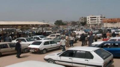 سوق السيارات المستعملة في قطاع غزة