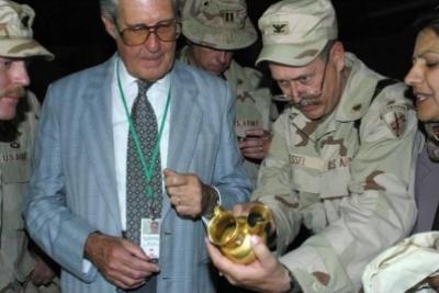 كنوز الملك نمرود التي عثر عليها الامريكان حيث اخفاها صدام في بغداد .. شاهد الصور