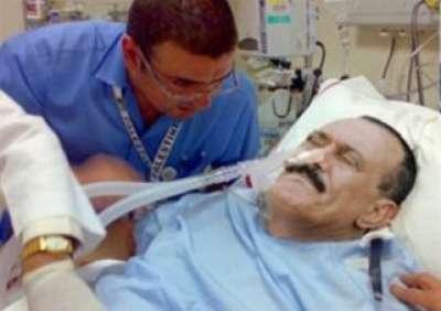 حروق بنسبة 40 في جسم الرئيس اليمني صالح