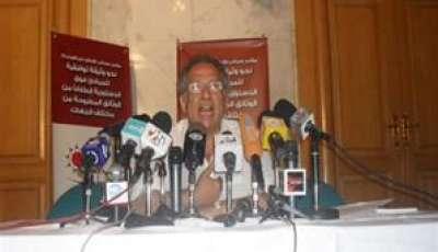 """مصر ... """"جزمة"""" تنهي مؤتمر للمجلس الوطني بقنا"""