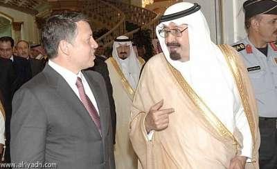 بعد وفاة الحسين.. الملك السعودي عبدالله ترك إبنه بين ال