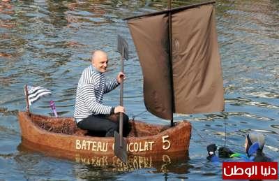 ليس للاكل: الابحار في قوارب من الشوكولاتة بجنوب فرنسا