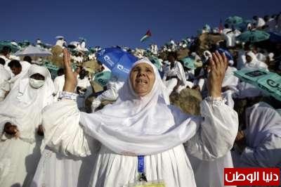 وقوف الحجيج على جبل عرفة