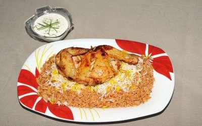 أرزّ الكابلي بالدجاج