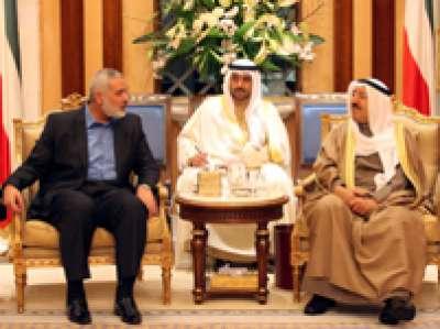 أمير الكويت يستقبل اسماعيل هنية ويعد بالمساهمة في اعمار غزة