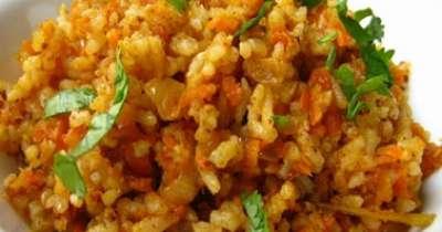 طريقة عمل أرز بالجزر المكونات: كاس ونصف أرز بسمتى