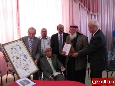 الاحتفال بتكريم الشاعر فتح الله الدخيل في اريحا