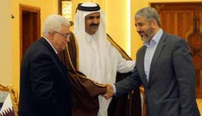 محضر الرئيس الفلسطيني محمود عباس وخالد مشعل رئيس حركة حماس