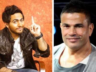 عمرو دياب يقلّد تامر حسني !