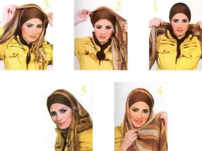 طرق مميزة للف الحجاب هذا الصيف .. صور