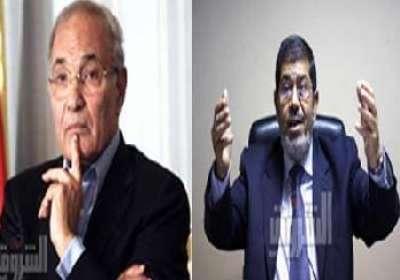 بعد فرز 80% من الأصوات: اقتراب الإعادة بين مرسي وشفيق في انتخابات الرئاسة المصرية