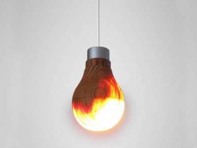 ياباني يبتكر مصباحاً من الخشب صديقاً للبيئة