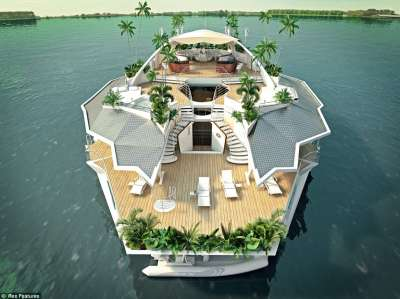تصميم جزيرة عائمة فقط بـ 3 مليون جنيه إسترليني