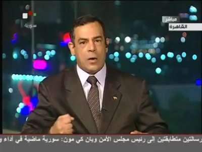 وفاة صحفي مصرى على الهواء أثناء دفاعه عن بشار الأسد