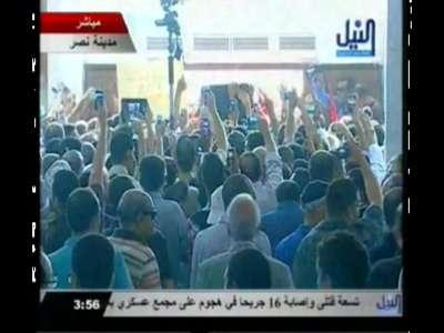 شاهد جنازة اللواء الراحل عمر سليمان . فيديو