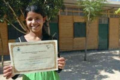 صالحة  طفلة فلسطينية لاجئة تحصل على جائزة هانز كريستيان الدولية 9998337268.jpg