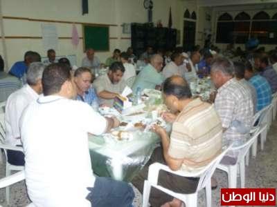 الجهاد الإسلامي تقيم افطارا رمضانيا في مخيم الرشيدية