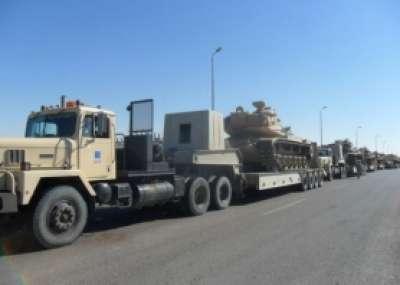 الجيش المصري يدفع بـ12راجمة صواريخ على حدود غزة