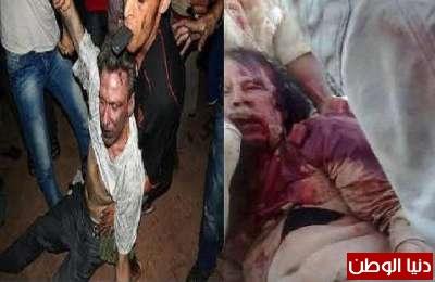 اغتصاب السفير الامريكي في ليبيا جنسيا وسحله قبل مقتله بنفس طريقة سحل واغتصاب القذافي .. شاهد الفيديو والصور للحادثتين