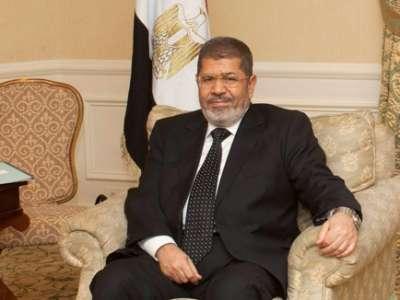 مرسي: على الدول العربية دعم حرية الشعب السوري و نرفض أي تدخل عسكري أجنبي في سوريا