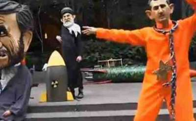 شاهد بالفيديو .. بشار الأسد يرقص الراب مع نجاد بالأمم المتحدة