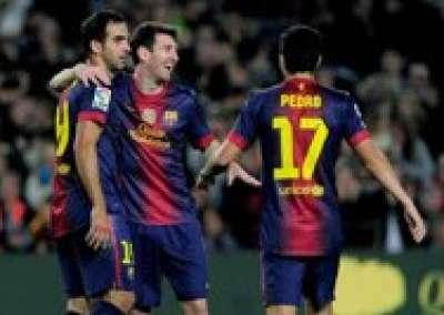 ليلة حمراء مكافأة تتويج برشلونة بالدوري الإسباني