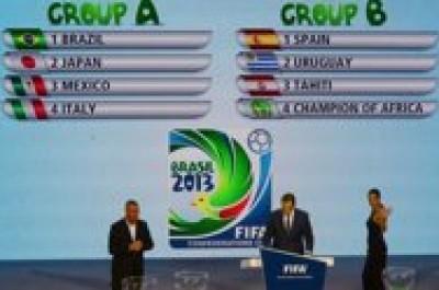كأس القارات: البرازيل مع ايطاليا والمكسيك واليابان واسبانيا تبدأ مشوارها امام الاوروغواي