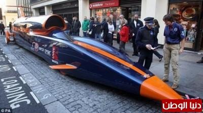 """سيــــارة صــاروخية: """"بلودهاوند"""" قادرة تخطي سرعة 1600 كم بالساعة!!!"""