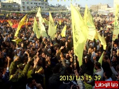 """كتائب شهداء الاقصى """"جيش العاصفة"""" نظمت مسيرة من جنوب الى شمال القطاع .. صور"""