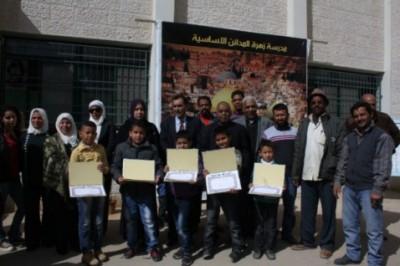 مدرسة زهرة المدائن في أريحا تكرم طلبتها المتفوقين