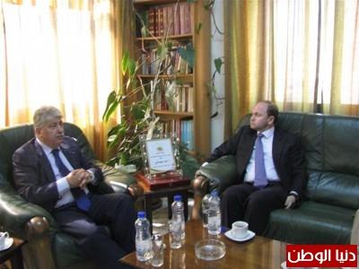 مجدلاني يلتقي سمو الأمير فراس بن رعد  نائب رئيس ممثل الرباعية الدولية في فلسطين