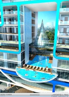 صور مذهلة لبرج على شكل قطرة مياه في الهند في مدينة مومباي