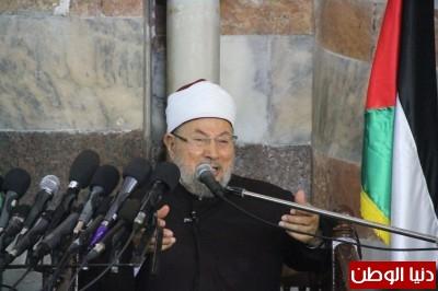 فيديو صور.. خطبة الجمعة للشيخ يوسف القرضاوي من داخل المسجد العمري الكبير في غزة