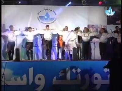 """محمد عسّاف يغني لـ""""مياه غزة"""" .. فيديو"""