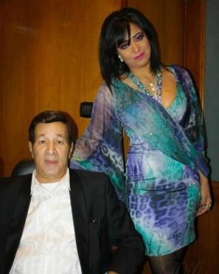 بالصور:الفنان سعيد صالح مع زوجته الشابة شيماء