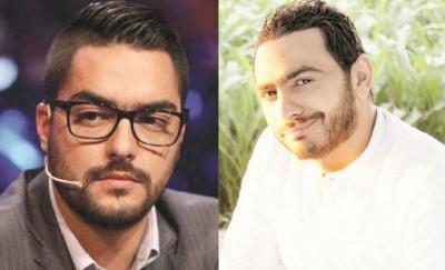 """تقليد تامر حسني لحسن الشافعي .. يشعل حربا بين """" المهووسات """""""